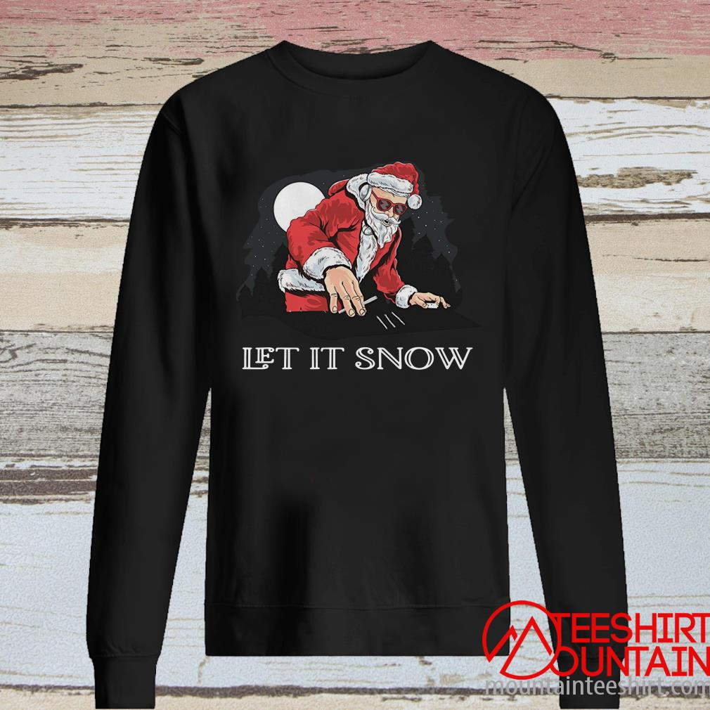 Santa Dj Let It Snow Christmas Sweater
