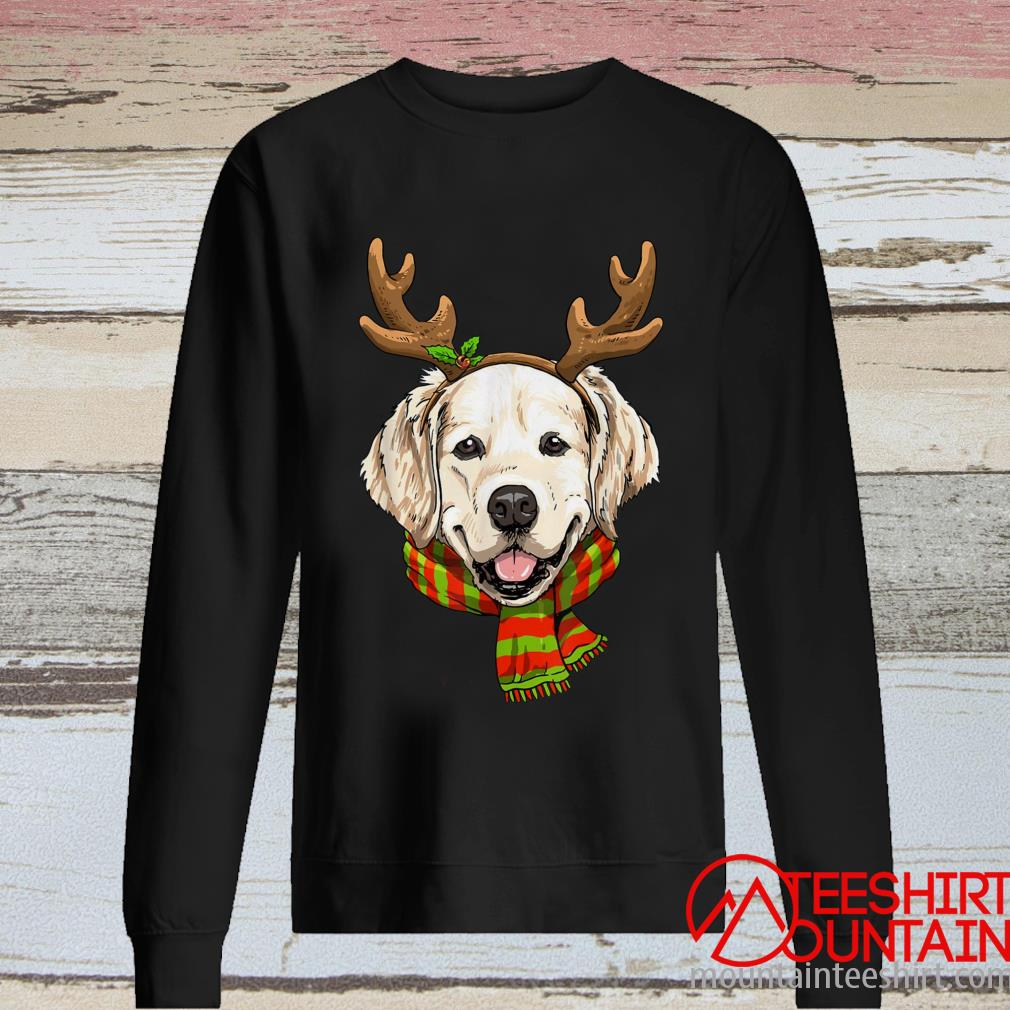 Golden Retriever Reindeer Christmas Version Sweatshirt