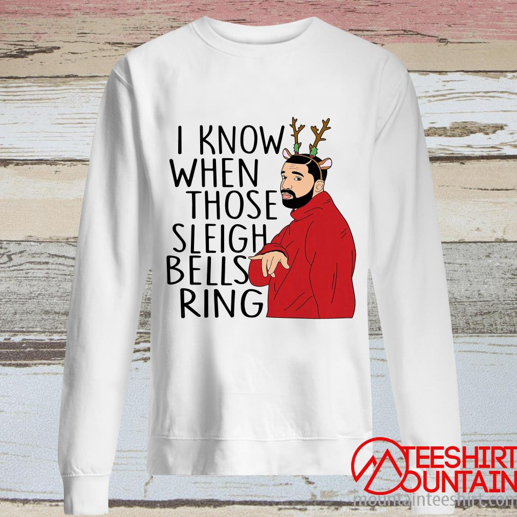 Santa Fake I Know When Those Sleigh Bells Rings Christmas Sweater