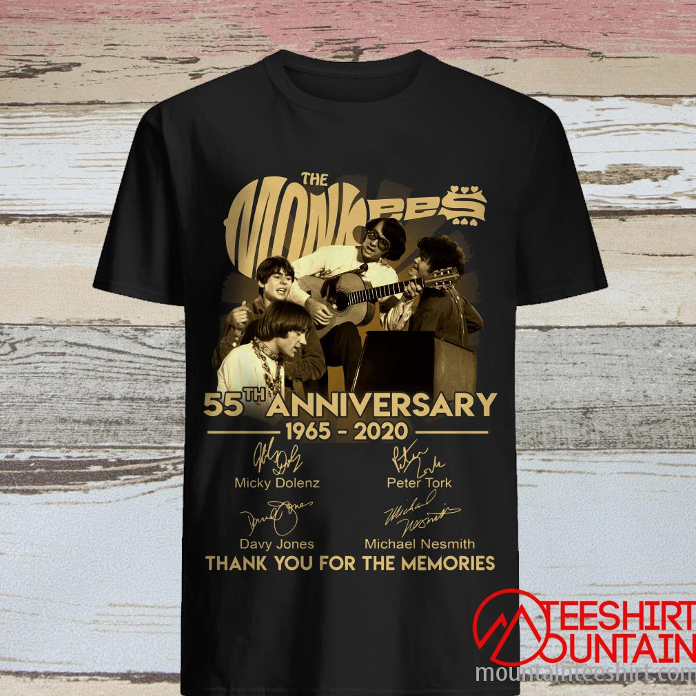 The Monkees Guitar 55th Anniversary 1965-2020 Signature T-Shirt