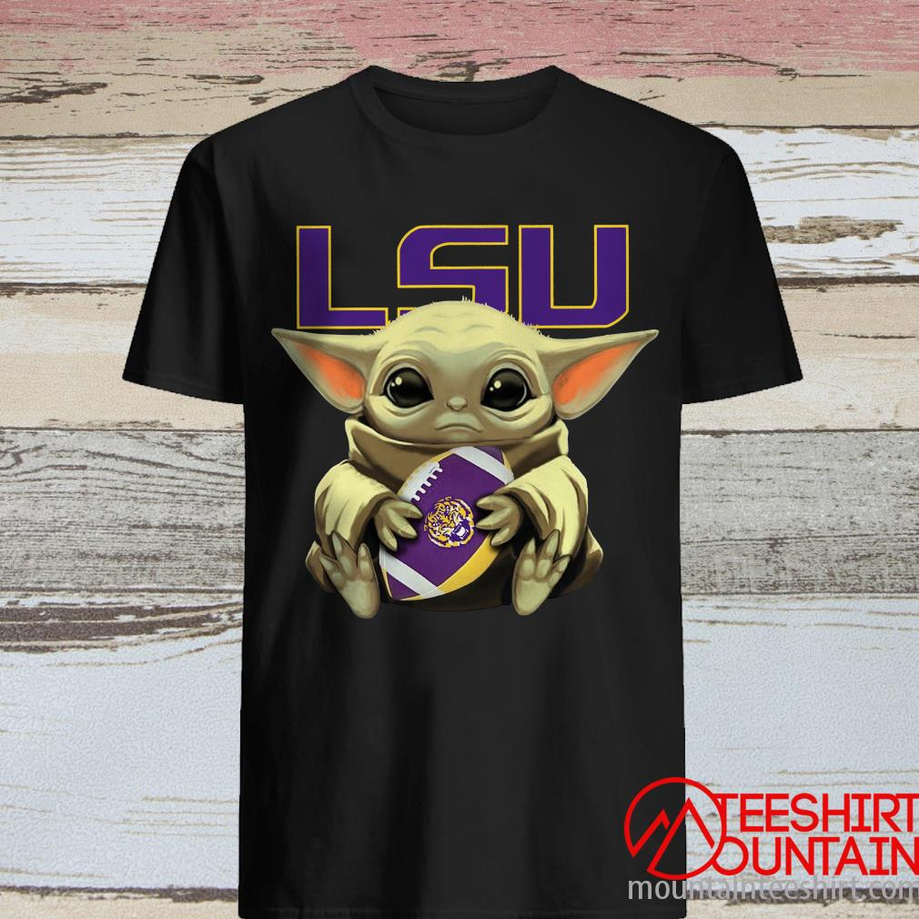 Star Wars Baby Yoda Hug LSU Tigers Shirt