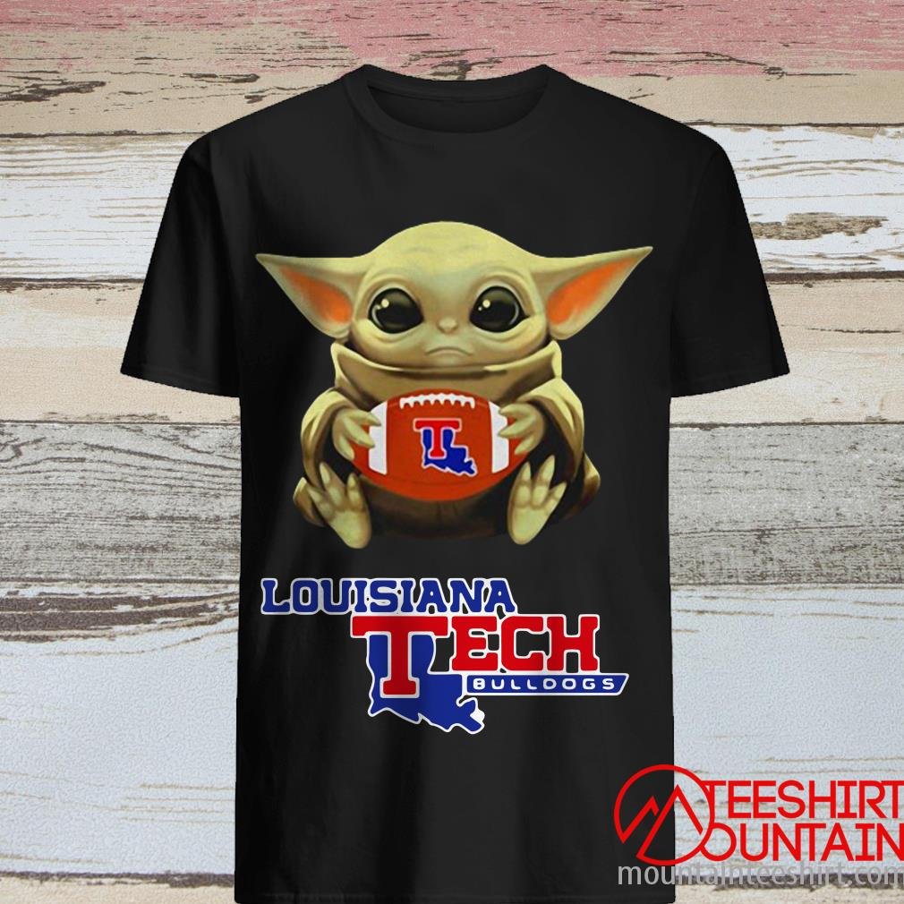 Star Wars Baby Yoda Hug Louisiana Tech Bulldogs T-Shirt