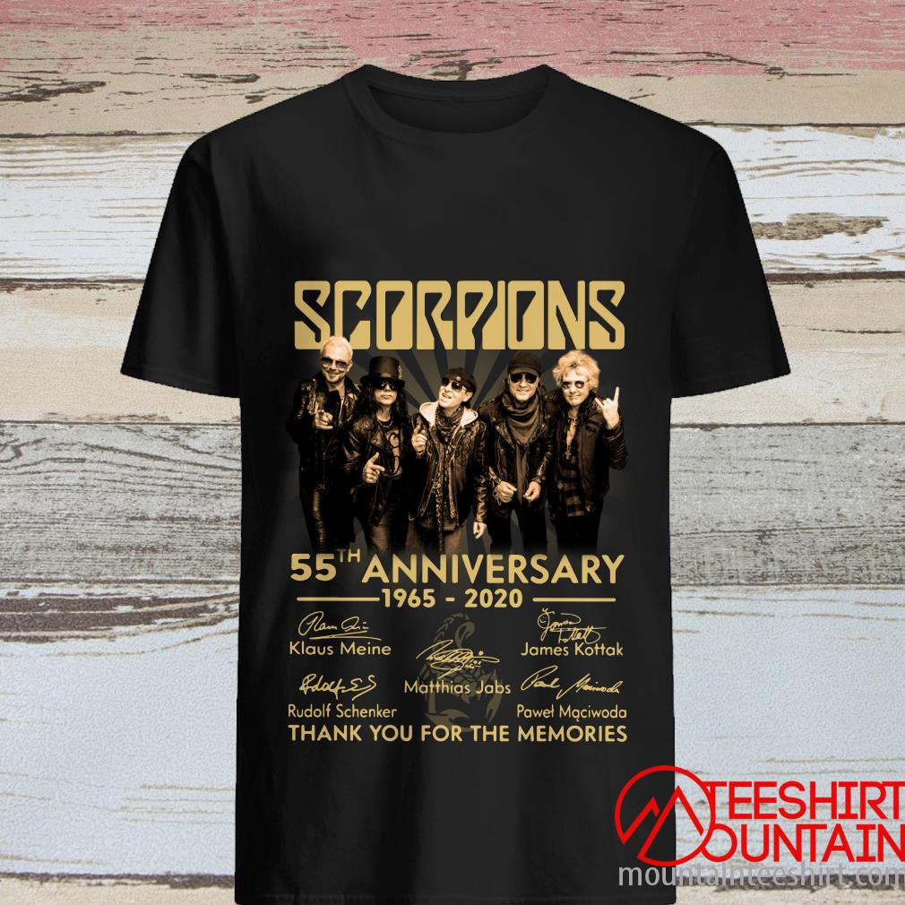 Scorpions 55th Anniversary 1965 2020 Thank You For The Memories Signature Shirt