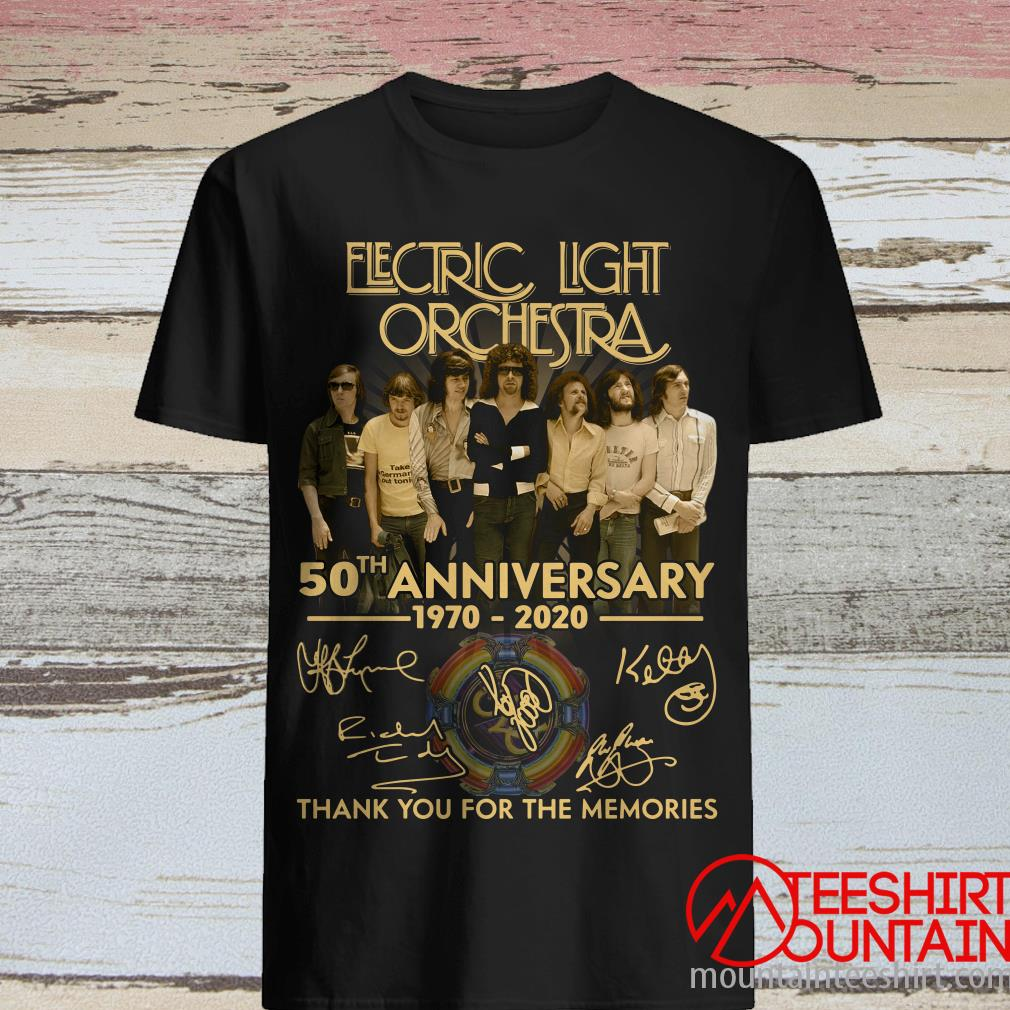 Electric Light Orchestra 50th Anniversary 1970 2020 Thank You For The Memories Shirt