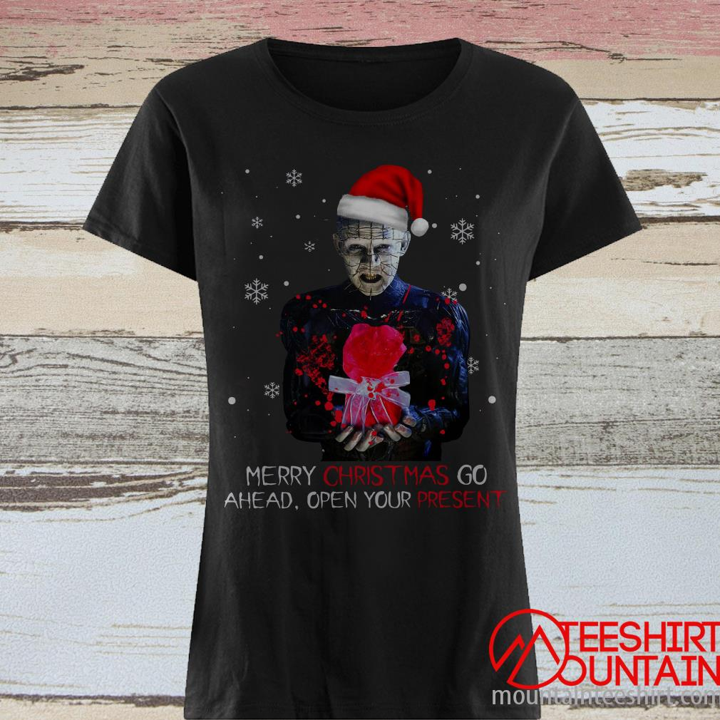 Santa Hellraiser Merry Christmas Go Ahead Open Your Present Sweatshirt