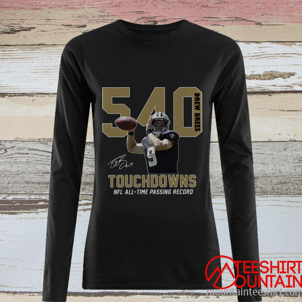 540 Drew Brees Signature Nfl All Time Passing To Record Shirt