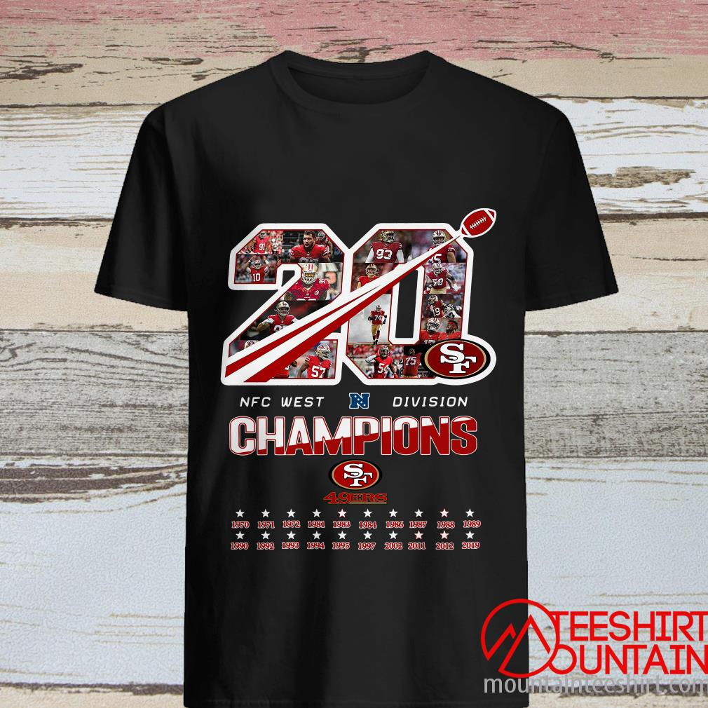 San Francisco 49ers 20 Nfc West Division Champions Shirt