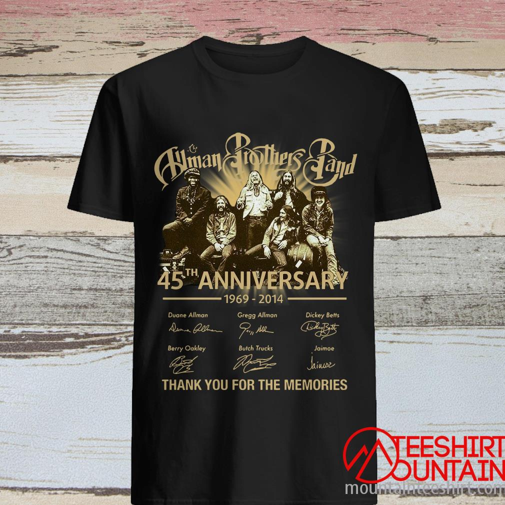 Human Brothers Band 45th Anniversary 1969 – 2014 Thank You For The Memories And Members Signature Shirt
