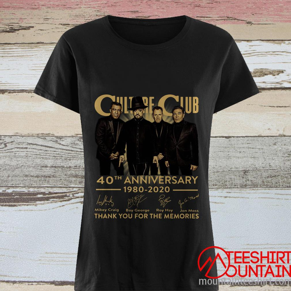Culture Club 40th Anniversary 1980 2020 Thank You For The Memories Shirt