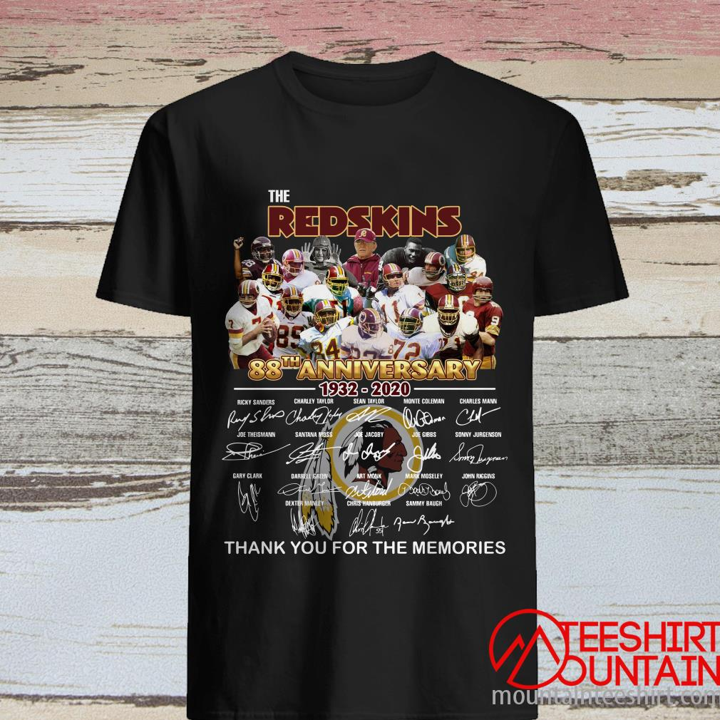 Funny The Washington Redskins 88th Anniversary Thank You For The Memories T-Shirt