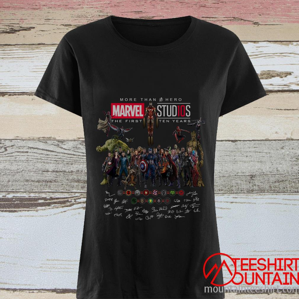 More Than Hero Marvel Studios The First Ten Years Signatures T-Shirt