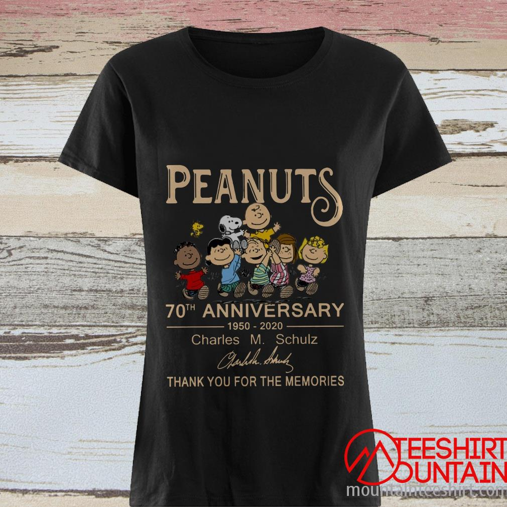 Peanuts 70th anniversary 1950-2020 Charles M.Schulz Thank You For The Memories T-Shirt