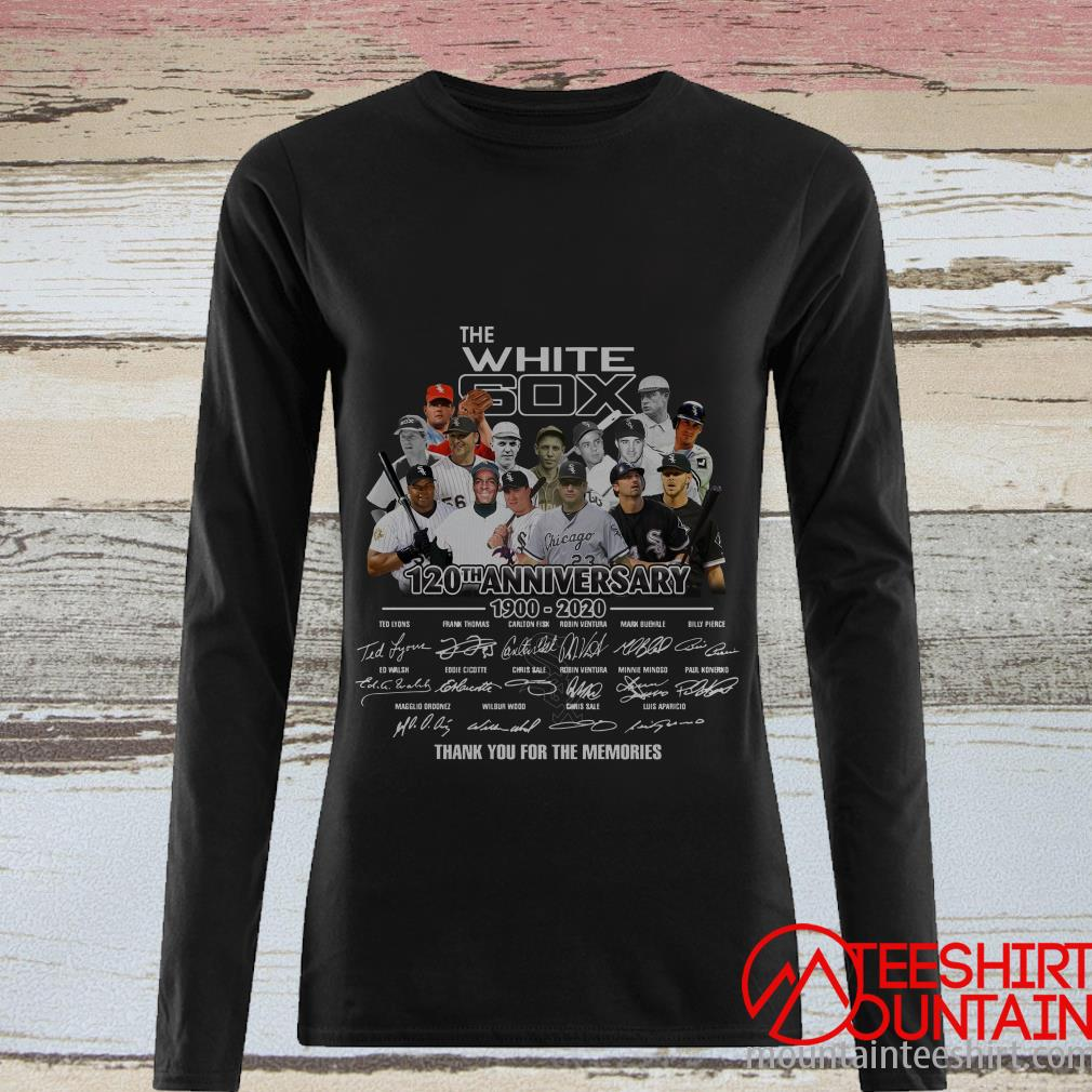The White Sox 120th Anniversary 1900 2020 Thank You For The Memories Signatures T-Shirt