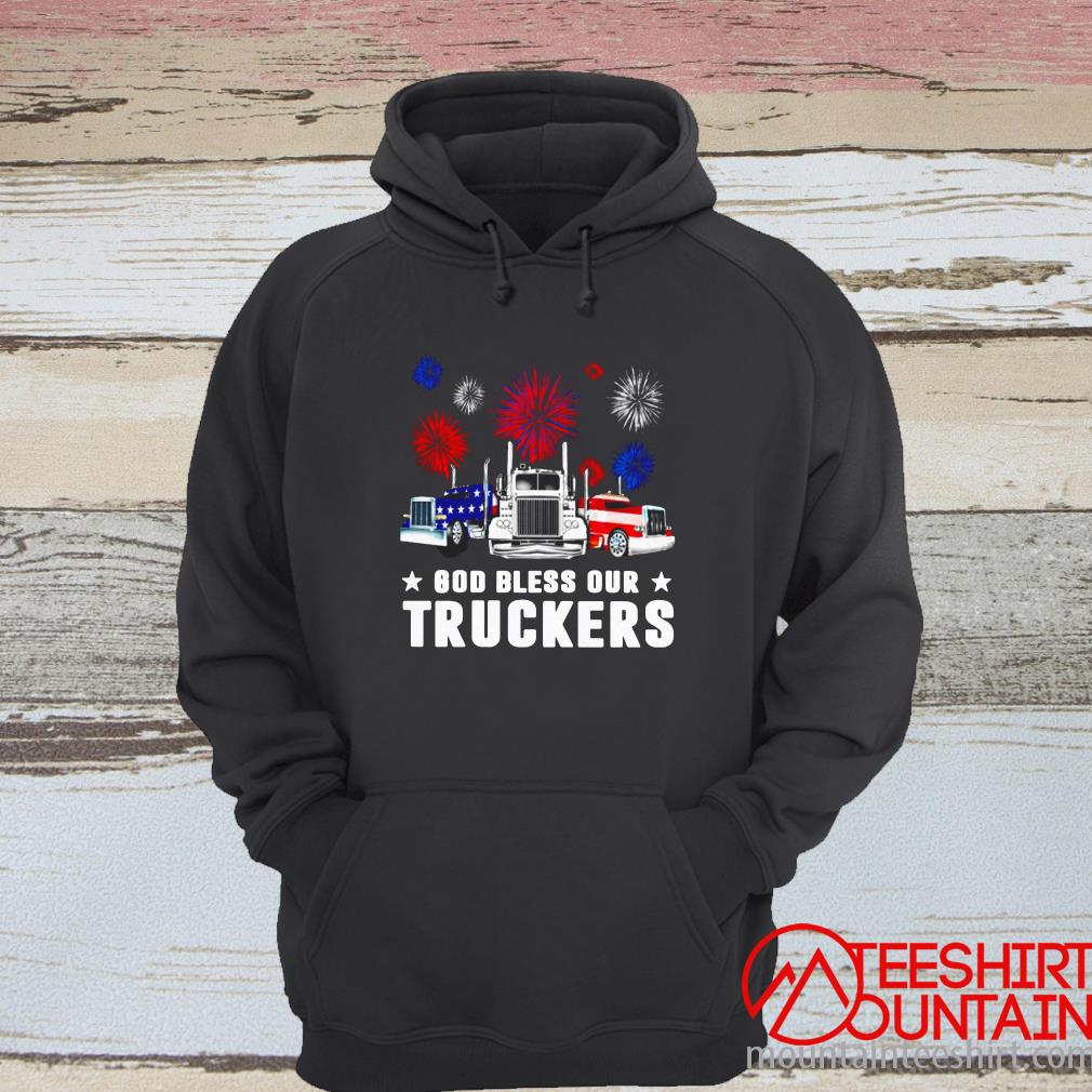 Independence Day America God Bless Our Truckers T-Shirt