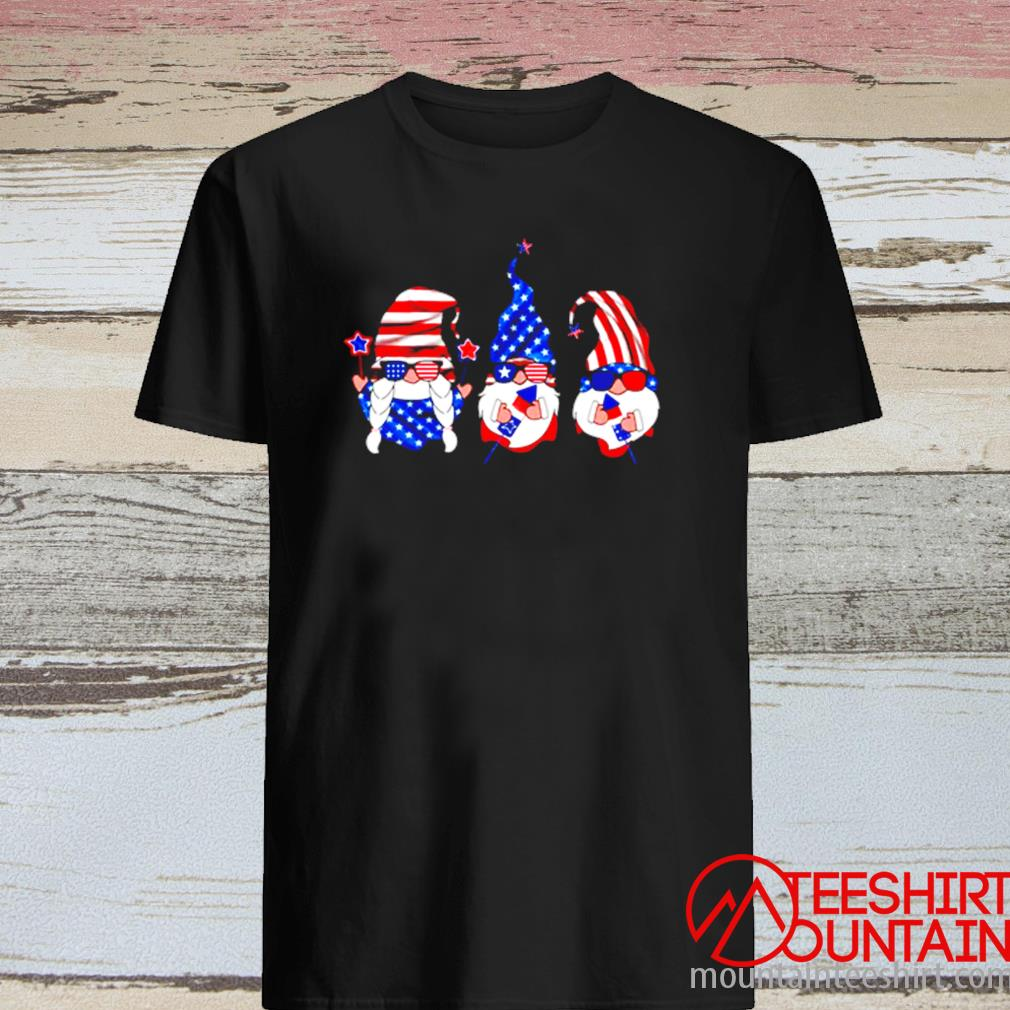 American Gnomes Sunglasses 4th Of July Independence Day Shirt
