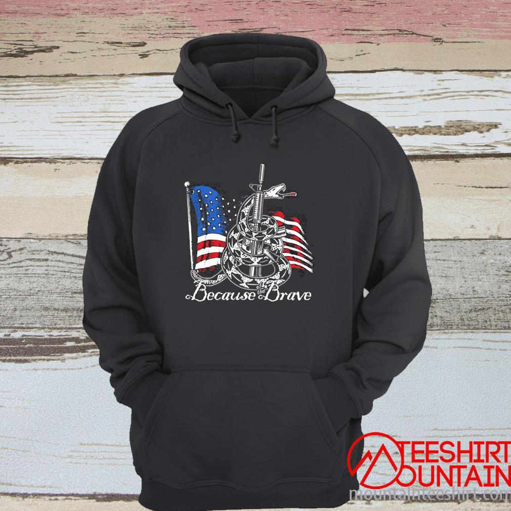 Demolition Ranch Because Of The Brave Veterans Day Shirt hoodie