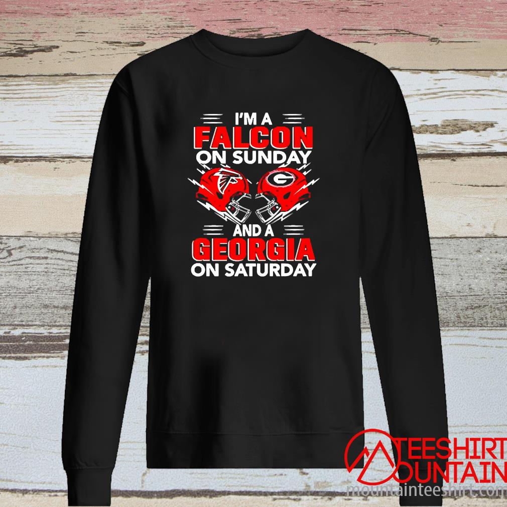I'm A Falcon On Sunday And A Georgia On Saturday Shirt long sleeve
