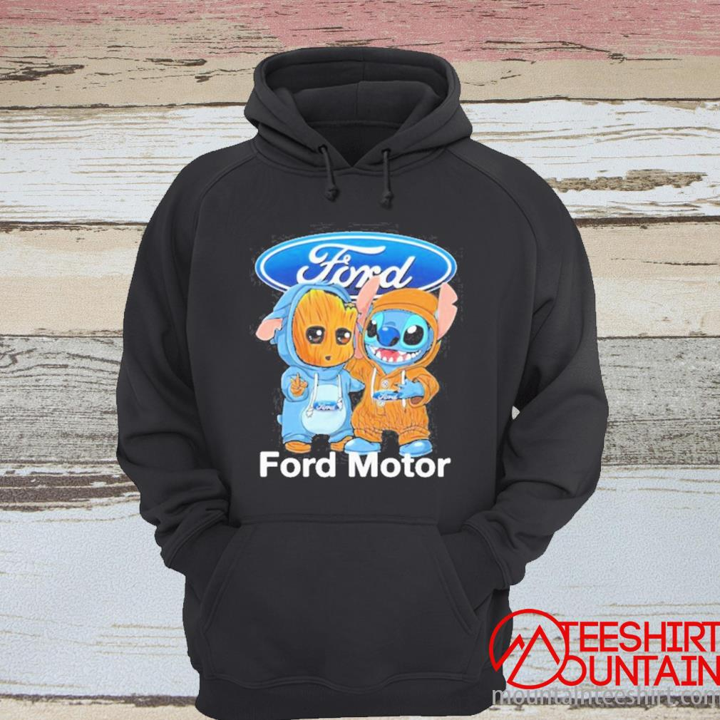 Baby Groot And Baby Stitch With Ford Motor Logo Shirt hoodie