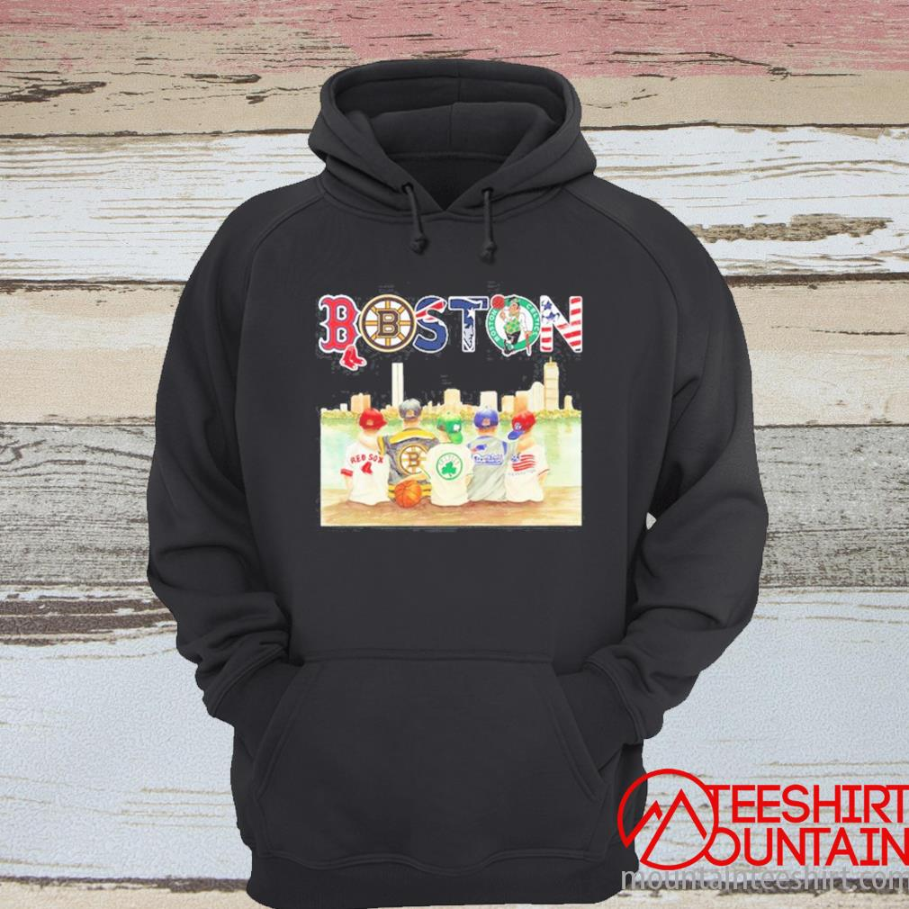 Boston Sport Teams Chibi With Red Sox Bruins Celtics Patriots And Revolution Shirt hoodie