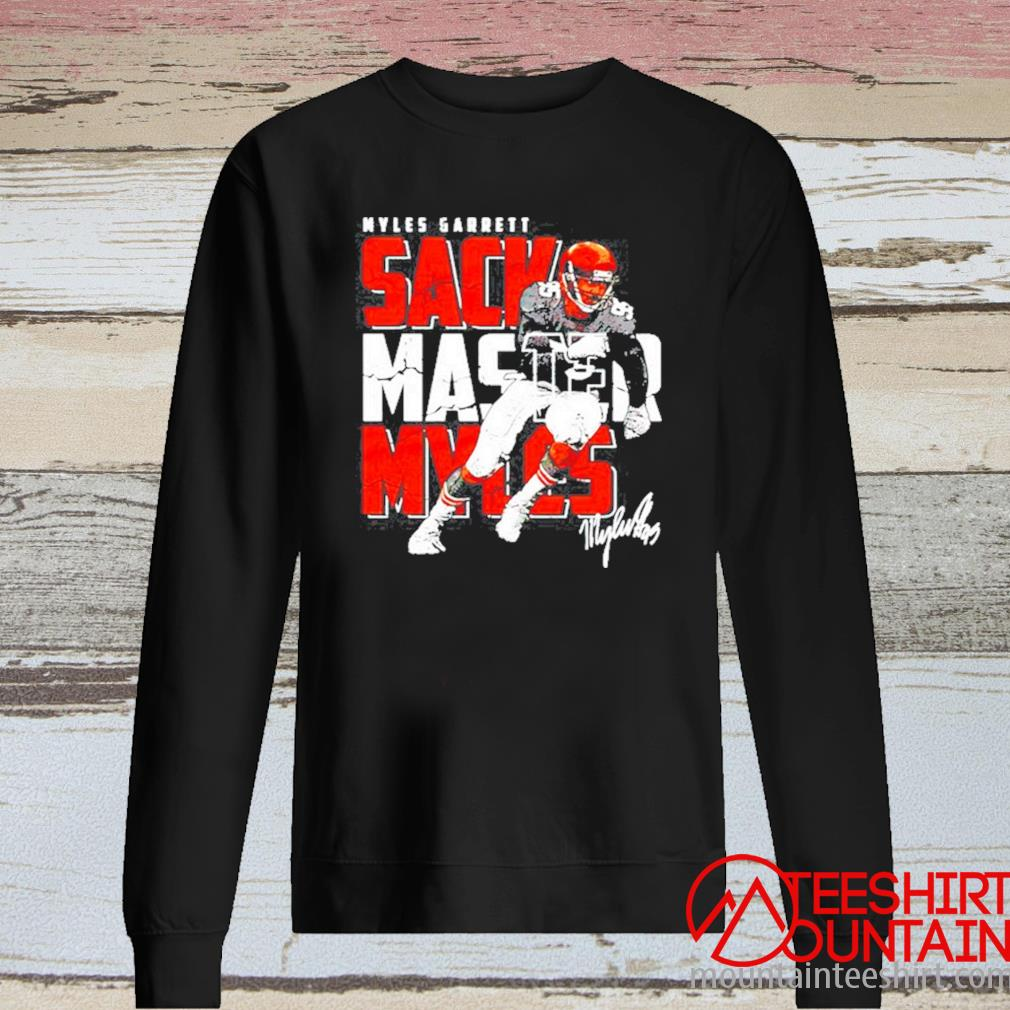 Cleveland Football Myles Garrett Sack Master Myles Signature Shirt long sleeve